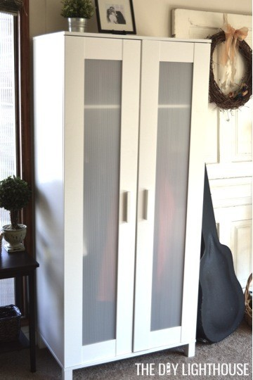 DIY coat closet closed (IKEA wardrobe)
