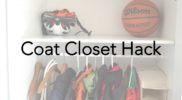DIY Coat Closet on a Budget: IKEA Hack