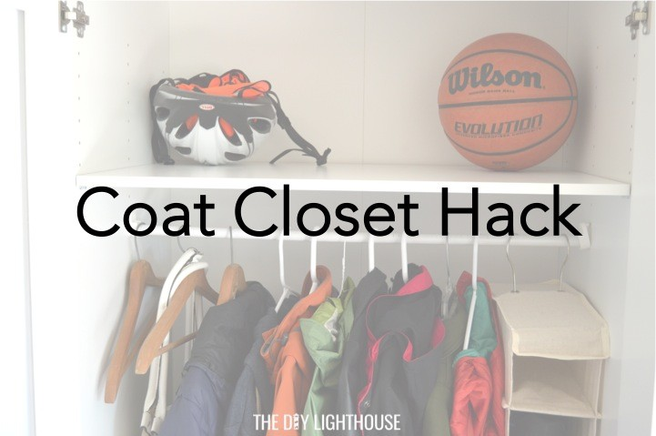 DIY coat closet hack