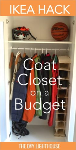 ikea hack coat closet on a buget