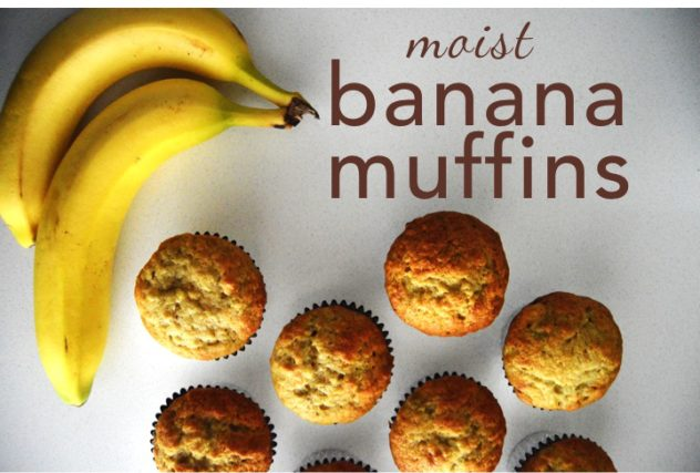 Cheap Dessert Ideas: moist banana muffins