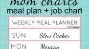 Mom Chart: Meal Plan & Job Chart
