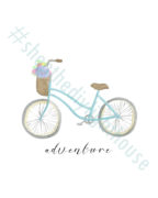 Adventure bicycle printable