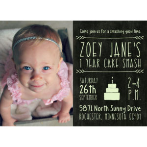 personalized cake smash invitation