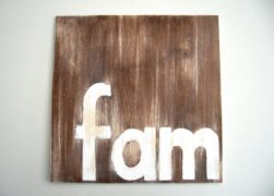 Fam wood wall art for country, rustic, farmhouse, vintage style home decor