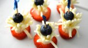 Fourth of July Fireworks Cheese Stick Snack