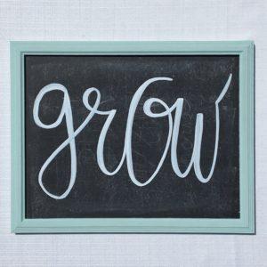 grow chalkboard