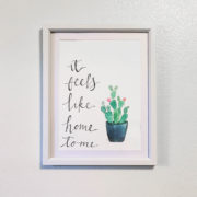it feels like home to me watercolor painting