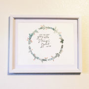 Nursery Watercolor Scripture Verse
