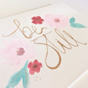 be still watercolor greeting card