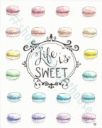 life is sweet watercolor giclee print