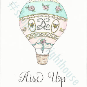 rise up watercolor giclee print