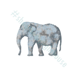 elephant watercolor printable