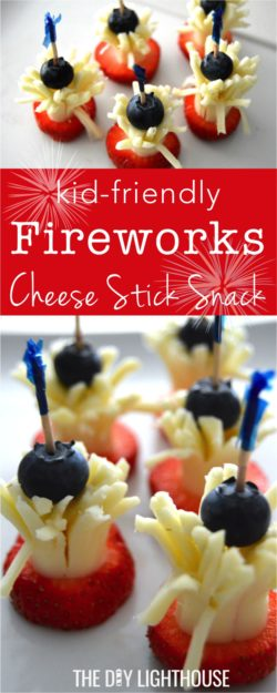 kid friendly fireworks cheese stick snack