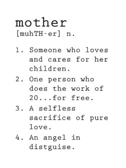 mothers day defintion for diy project