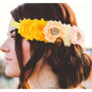 flower crown sash