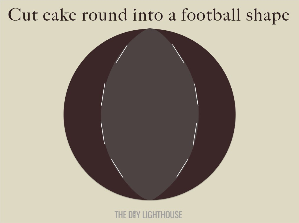 cut-cake-round-into-a-football-shape