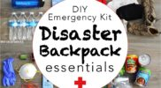 DIY Disaster Backpack: Emergency 72 Hour Kit