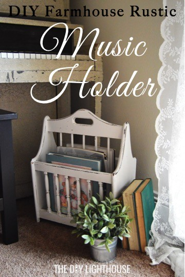 DIY music holder farmhouse-country-rustic