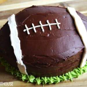 Football Cake | How to make a super easy football cake for your super bowl party | food ideas