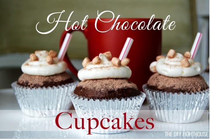 hot-chocolate-cupcake-recipe-easy-box-cake-mix | Christmas cupcake ideas