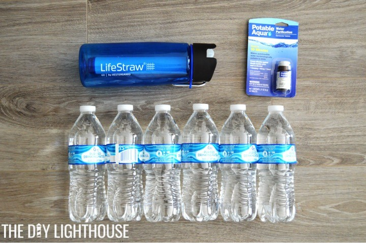 water-supplies-for-DIY Disaster Backpack: 72 Hour Backpack Kit for Emergency Preparedness