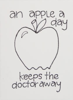 get well soon gift and card ideas- an-apple-a-day-keeps-the-doctor-away