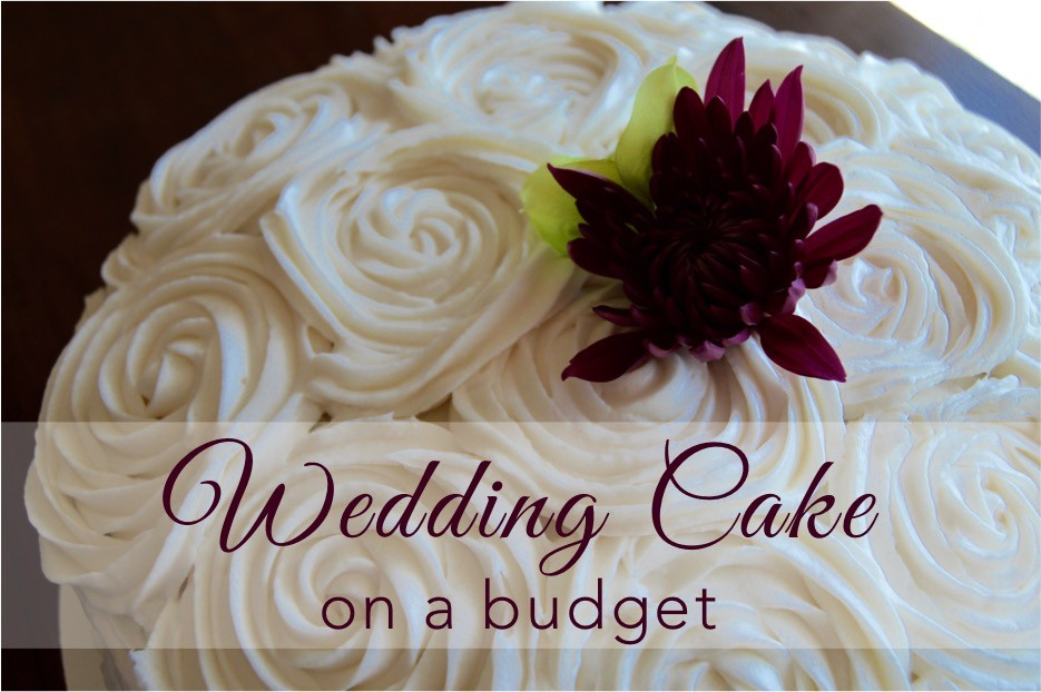 DIY wedding cake on a budget for a DIY wedding on the cheap