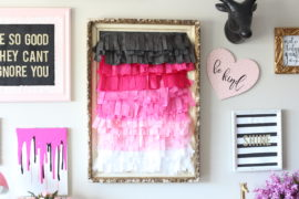 DIY Ombre Tissue Paper Decor for Your Wall