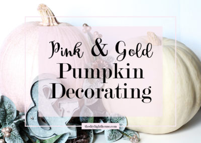 DIY pink & gold-dusted pumpkin decorating