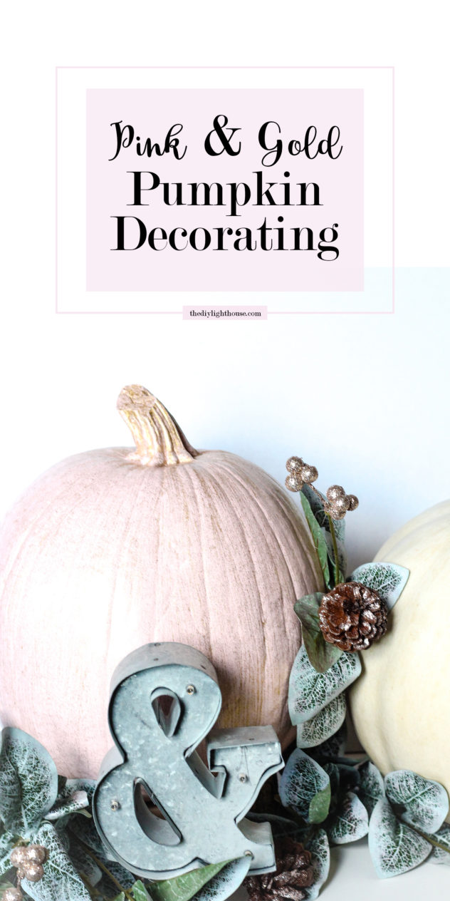 pink-and-gold-pumpkin-decorating-pinterest