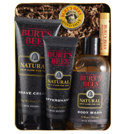 Gifts for him | Manly man gift idea list | Christmas gift or Fathers Day gift ideas for husband or dad | shower bath gift pack Burt's Bees