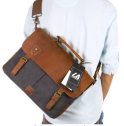 Gifts for him | Manly man gift ideas | Christmas gift or Fathers Day gift ideas for husband or dad | leather canvas messenger bag