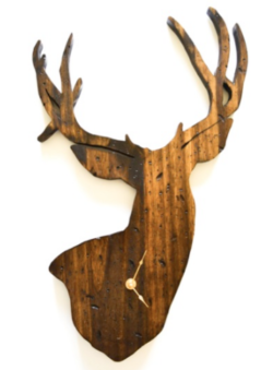 Gifts for him | Manly man gift idea list | Christmas gift or Fathers Day gift ideas for husband or dad | hunter deer clock