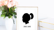Silhouette Profile Portrait Tutorial