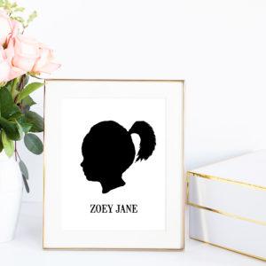 silhouette profile portrait