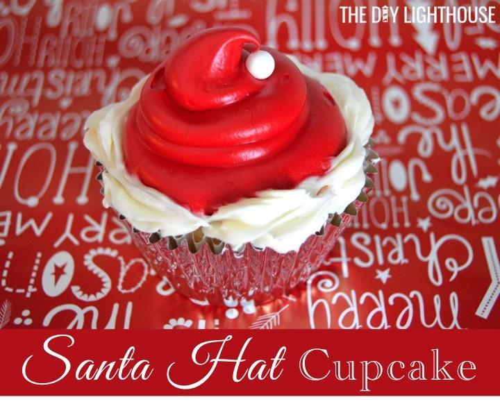 santa-hat-cupcake | Christmas cupcake ideas