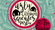 Ugly Christmas Sweater Party Ideas [& FREE Invitations]