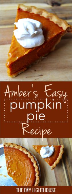 Easy Pumpkin Pie | Amber's Easy Pumpkin Pie Recipe | sweet and delicious pumpkin pie | ambers-easy-pumpkin-pie-recipe