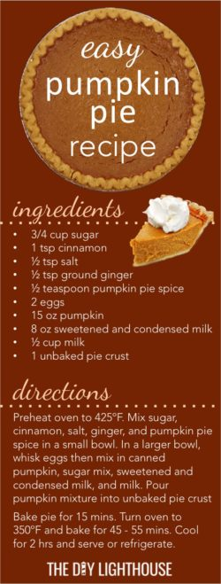 Easy Pumpkin Pie | Amber's Easy Pumpkin Pie Recipe | sweet and delicious pumpkin pie | easy-pumpkin-pie-recipe-card