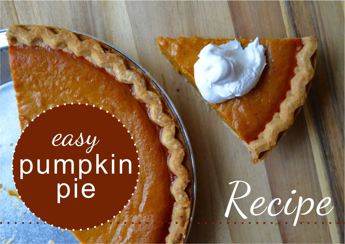 Easy Pumpkin Pie | Amber's Easy Pumpkin Pie Recipe | sweet and delicious pumpkin pie | easy-pumpkin-pie-recipe