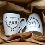 Package DIY Sharpie mugs