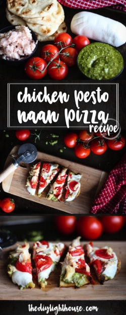 Chicken Pesto Naan Pizza pinterest