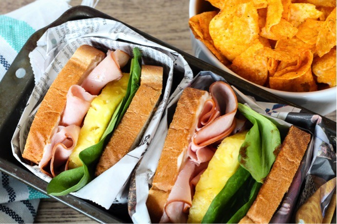Hawaiian Barbecue Sandwich Recipe. Ingredients list and directions for how to make a Hawaiian barbecue sandwich with ham and pineapple. A fun + flavorful sandwich recipe for spring + summer.