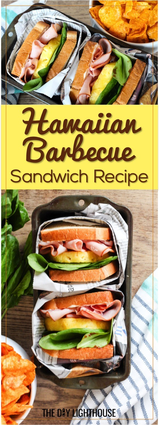 Hawaiian Barbecue Sandwich Recipe. Ingredients list and directions for how to make a Hawaiian barbecue sandwich with ham and pineapple. A fun + flavorful sandwich recipe for spring + summer. #SandwichWithTheBest #ad