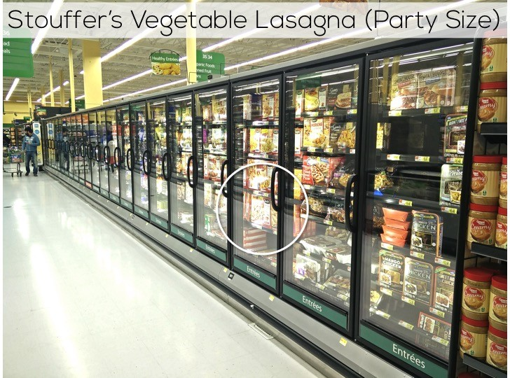 Nestlé Stouffer's Vegetable Lasagna at Walmart | Easy Easter dinner menu for the family. Fresh, springtime dinner with vegetable lasagna main course, strawberry spinach salad, rolls, + milkshake dessert.