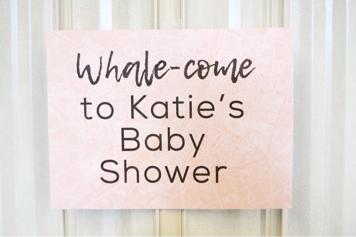Whale-come to the baby shower. Sailing baby shower inspiration with a nautical theme. Food, party decorations, invitation, games, + gift ideas for an adventure sailing girl's baby shower.
