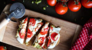 Chicken Pesto Naan Pizza Recipe