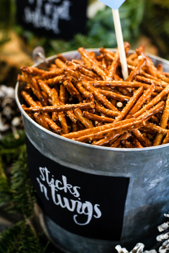 sticks 'n twigs woodland themed baby shower food
