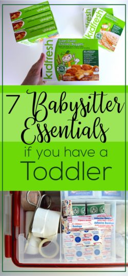 A list of things to leave the babysitter if they're watching a toddler. Babysitter essentials include an easy meal, emergency contacts, a first aid kit, and more. Tips and tricks for babysitting little kids.